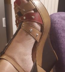 Sandale kozne wedge br. 38 SNIZENO