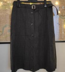 Midi siva suknja