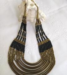 Vintage bogata mesing ogrlica