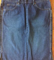 SISLEY traper suknja jeans sa kristalima