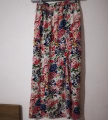 ❤️ Duga cvijetna suknja s prorezom❤️