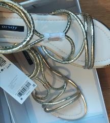 🌺Nove prekrasne zlatne sandale 39😍POPUST