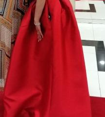 Crvena saten haljina AKCIJA 800KN