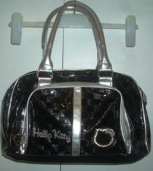 Hello Kitty crna lakirana torba