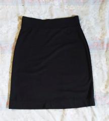 Crna pencil rastezljiva suknja