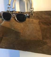 Vintage - antilop smeđe-zelena torba i poklon:)