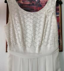 Svečana duga bijela haljina/vjenčanica