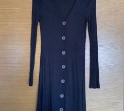 Primark crna haljina sa gumbima
