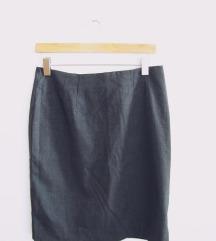 Formalna / poslovna siva pencil suknja