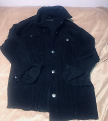Zara crna samt oversized jakna XS