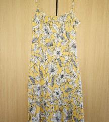 Cvjetna žuta haljina