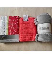 Novi lot posteljine, rucnika i deke