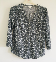 H&m crno bijela bluza vel S