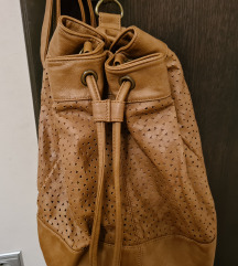 Smeđi konjak ruksak torba