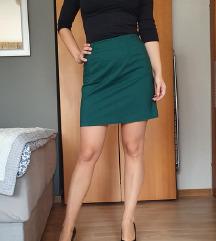 Smaragdno zelena H&M suknja SNIŽENO