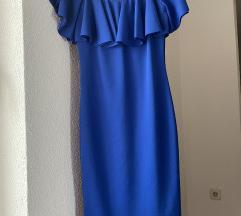 Plava midi haljina