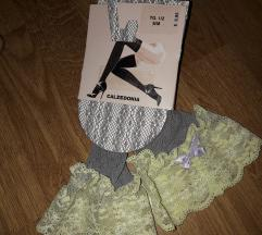 Novo calzedonia samostojeće sive čarape