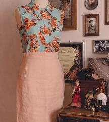 Roza suknja od lana