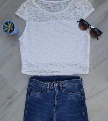LOT - NOVO - H&M traperice i top sa čipkom