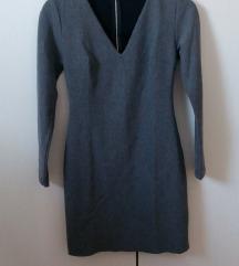 Zara siva haljina M