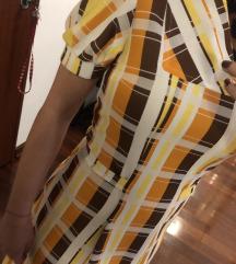 Retro haljina kariranog uzorka