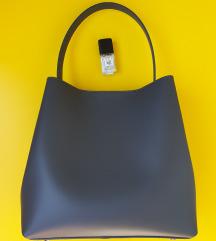 Siva kožna torbica