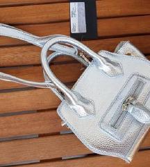 Ljetna srebrena torba S ETIKETOM