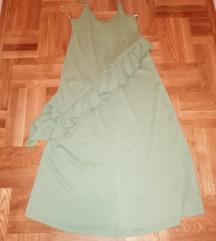 Zara pastelno zelena haljina