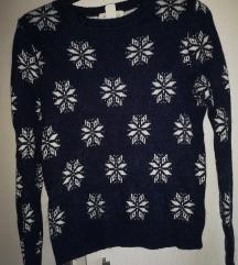 H&M debeli božićni pulover