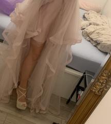 Roza svecana haljina