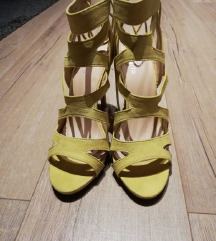 Žute sandale na petu