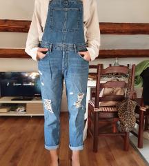 Jeans kombinezon s tregerima H&M