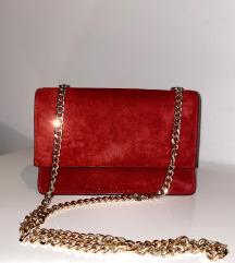 Crvena Zara kožna torbica
