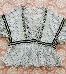 Zara - pamučna ljetna majca na volančiće