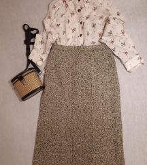 Vintage midi tweed suknja