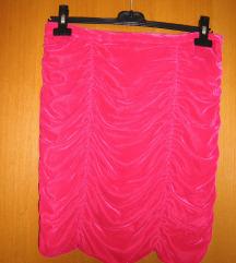 roza pliš H&M suknja