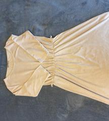 Bež haljina poludugih rukava
