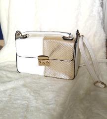 Bijelo zlatna NOVA torbica / torba