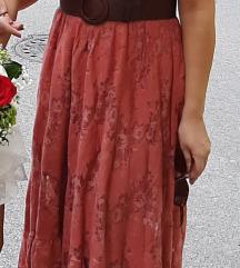 Midi cigla haljina