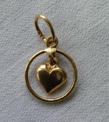 Zlatni privjesak srce
