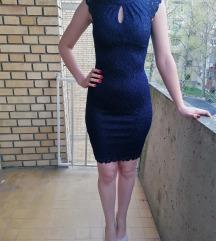 Orsay plava uska haljina 36