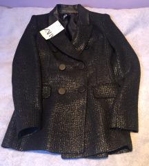 Zara crni shimmer sako XS