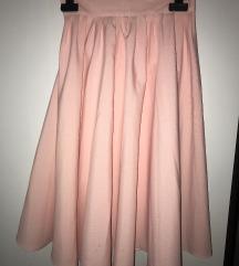 midi roza suknja
