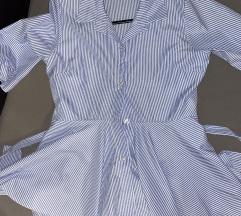 Košulja na prugice sa peplumom