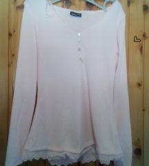 Basic roza rebrasta majica