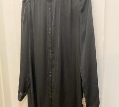 Patrizia Pepe crna košulja-haljina s remenom