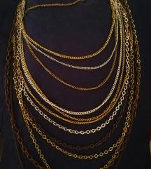 Duga ogrlica od lanaca