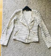 Lindex bijelo siva jakna vel XS