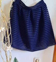 Tamno plava suknja