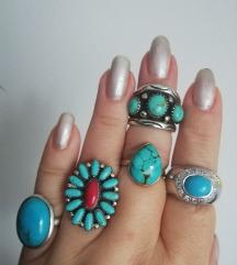 Srebrni prsteni s tirkizima